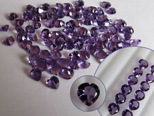 Natural Amethyst Heart Cut Calibrated Sizes 4mm - 8mm Top Quality loose Gemstone
