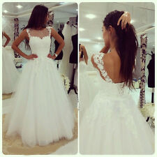 Backless Wedding Dress 2016 Actual Image A Line Cheap Tulle Bridal Gown Custom