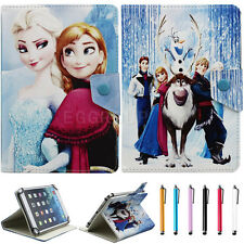 """Universal Disney For 7"""" 7.9"""" tablet PC Flip Leather Case Cover +Stylus for kids"""