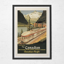 VINTAGE TRAVEL POSTER - Canadian Pacific Railways Poster  - Locomotive Travel Po