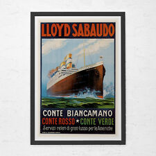 NAUTICAL TRAVEL POSTER - Italian Travel Poster - Vintage Boat Poster, Cruise Shi