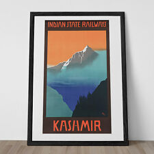 KASHMIR TRAVEL POSTER India Travel Poster India Poster Art Deco Poster 1920's Tr