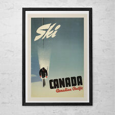 CANADA Travel Poster - Canada Travel Print - SKI POSTER Canadian Pacific Poster