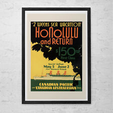 HAWAII Travel Poster - USA Travel Print - Canada Travel Poster Canadian Pacific