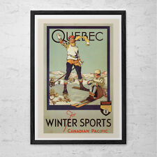 QUEBEC Travel Poster - Quebec Travel Print - Professional Reproduction Canadian