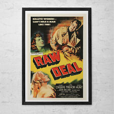 CLASSIC MOVIE POSTER -  Raw Deal Movie Poster - 1940's Retro Kitsch Poster Retro
