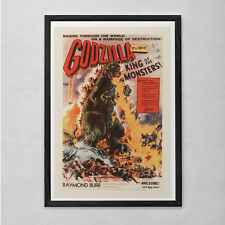 GODZILLA MOVIE POSTER - Vintage Sci-Fi Poster - Cult Movie Poster Classic Movie