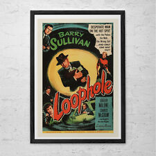 CLASSIC MOVIE POSTER -  Loophole Movie Poster - Retro Movie Poster Classic Film
