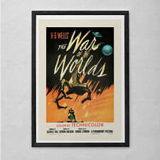 RETRO MOVIE POSTER - War of the Worlds - Vintage B-Movie Poster - Cult Movie Pos