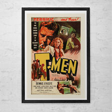 T-MEN Movie Poster -  Classic Movie Poster -  Retro Movie Poster - Film Movie Po