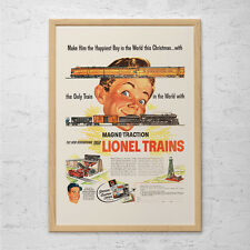VINTAGE LIONEL TRAINS Ad - Retro Toy Ad - Old Train Collector Ad Poster 1950 Lio