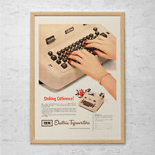 VINTAGE IBM TYPEWRITER Ad - Retro Office Wall Art - Cool Kitsch Office Decor Pos