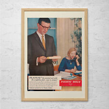 OLD OFFICE POSTER Ad - Classic Office Ad-  Mid-Century Poster Mad Men Poster Mad