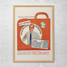 RETRO VAN HEUSEN Ad - Retro Shirt Ad - Mad Men Poster Vintage Mens Fashion Ad Re