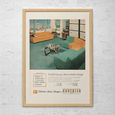 MID CENTURY Home Decor Ad - Retro Fashion Ad - Vintage Wall Art, Retro 50's Home