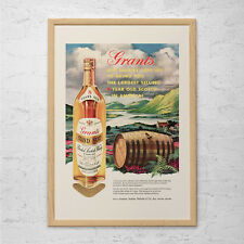 VINTAGE SCOTCH AD - Vintage Bar Poster 1950's Retro Kitsch Retro Barware - Scotc