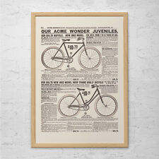 ANTIQUE BICYCLE ADVERTISEMENT - Vintage Bike Ad - Acme Bike Ad, Kids Bikes Poste
