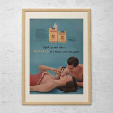 VINTAGE CIGARETTE AD - Old Gold Cigarettes Advertisement - Mid Century Ad, Class
