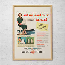 VINTAGE LAUNDRY ROOM Ad - Retro Washing Machine Ad - Laundry Room Decor Laundry