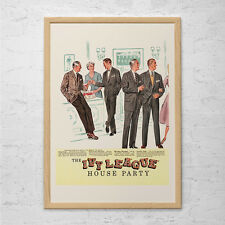 IVY LEAGUE FASHION Ad - Retro Mad Men Ad - Mid-Century Poster Mad Men Party Post