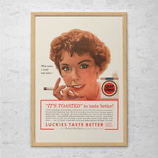 CLASSIC LUCKY STRIKE Ad - Vintage Cigarette Ad - Vintage Lucky Strike Cigarette