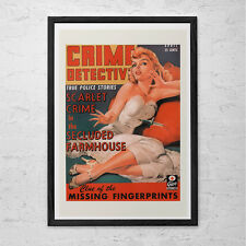 KITSCH POSTER ART - Women in Crime Detective Magazine Poster Print - Retro Kitsc