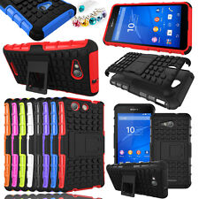 New Heavy Duty Shockproof Hybrid Armor Case Cover Kickstand For Sony SmartPhone