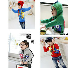 Cute Boys Dinosaur Monster Hoodie Jumper 1.5-6years Top and Detachable With Tail