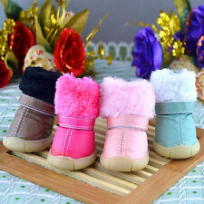 Puppy Pet Dog Cat Snow Boots Anti-Slip Winter Warm Outdoor Pet Shoes Booties