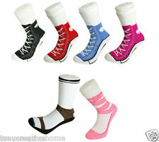 men women Silly Sock Sneaker Socks Cotton Converse Shoe Trainer Novelty Silly S