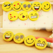 WS AU 4pc Students Kids Cute Mini Smile Face Rubber Erasers For School Office