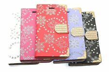 Bling Diamond Magnetic Flip Leather Wallet Case For Apple Samsung Galaxy Phones