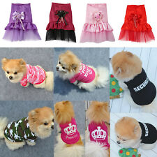 Pet Dog Clothes Puppy Various Summer Vest T Shirt Dress Coat Apparel Costume ES
