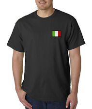 Italy Flag Symbol Italian Pride Embroidered T-Shirt S-3XL