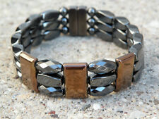 Men's SPORTSMAN SERIES 100% Magnetic Hematite BRONZE TRIPLE Bracelet