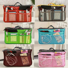 Pockets Multi-function Polyester Bag in Bag Organizer Travel Dual Insert