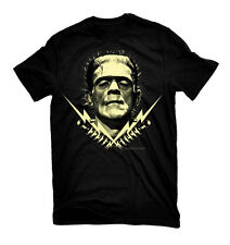 FRANKENSTEIN Bolts Glow In The Dark Boris Karloff Mens T-Shirt New S-2XL