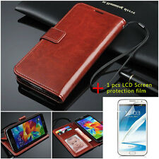 Luxury Purse PU Leather Wallet Flip Stand Cover Case For Samsung Galaxy S5 i9600