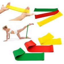Resistance Workout Bands Pilates Fitness Excercise Rehab Yoga Core Loop QT