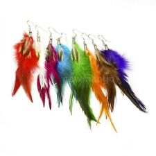 Fashion Cute Long Downy Feather Chandelier Dangle Earring Eardrop Party Hot R8N3