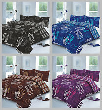 Polycotton Blake Quilt Duvet Cover Set Pillow Case, Single, Double, Super King