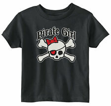 Lil Shirts Little Girls Pirate Girl Toddler Tee