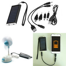 1350mAH Portable Solar AC Power Bank Battery Charger USB for Cell Phone QT