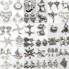 Retro Style Variety Silver Plated Carving Charms Pendants Jewelry Findings DIY