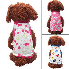 Puppy Pet Dog Cat Cartoon Print Clothes Puppy Cotton Vest Apparel Size XS-XL