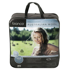 Bianca Australian Wool Quilt Doona 5 Sizes Machine Washable Winter Weight 550gsm