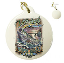 Wicked Stripper Action -Christmas Xmas Tree Porcelain Ornaments