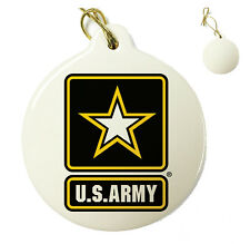 US Army Logo - Christmas Xmas Tree Porcelain Ornaments