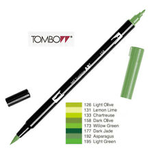 Tombow Dual Brush Pen  ABT 126 to 195  Yellow Green shade