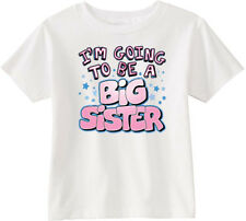 Lil Shirts I'm Going to Be A Big Sister Youth & Toddler Graphic Tee Shirt